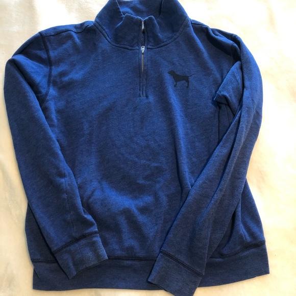 PINK Victoria's Secret Tops - Blue Quarter Zip (VS PINK)